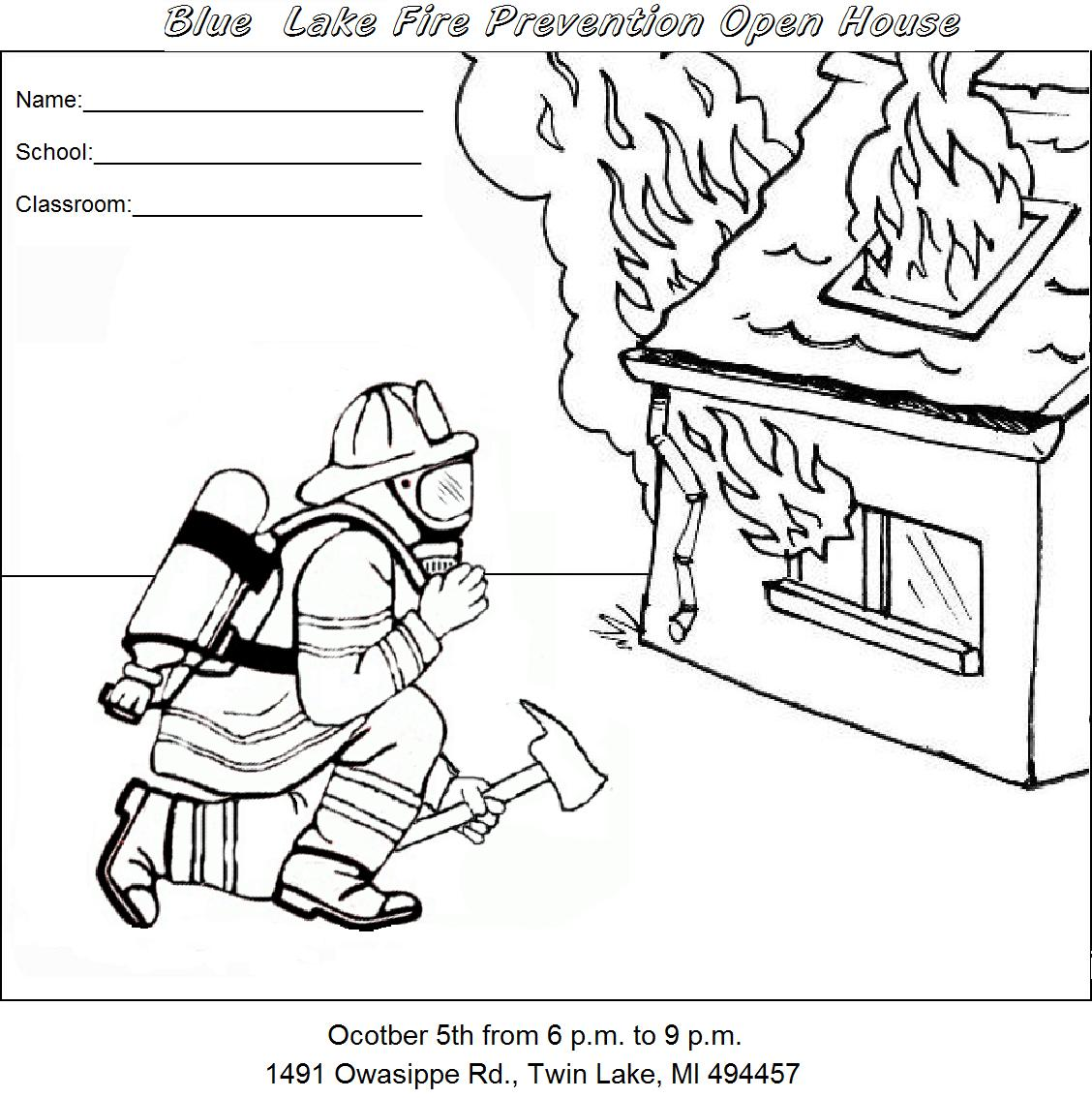 safety town coloring pages - photo #4